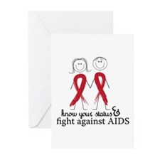 Know Your Status And Fight Against Aids Greeting C
