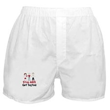 Stop Aids Get Tested Boxer Shorts