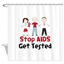 Stop Aids Get Tested Shower Curtain
