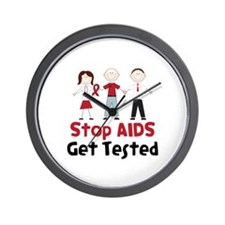 Stop Aids Get Tested Wall Clock