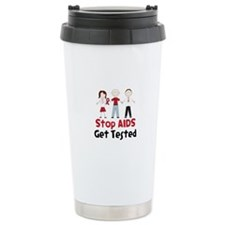 Stop Aids Get Tested Travel Mug