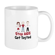 Stop Aids Get Tested Mugs