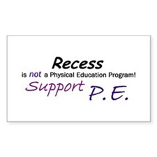 Recess is not ... Rectangle Decal
