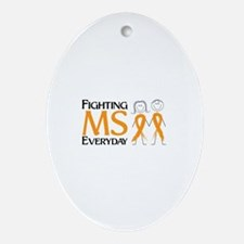 Fighting MS Everyday Ornament (Oval)