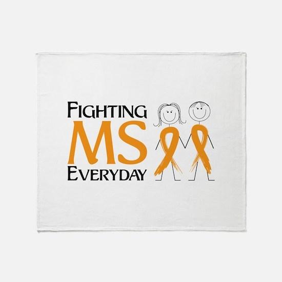 Fighting MS Everyday Throw Blanket
