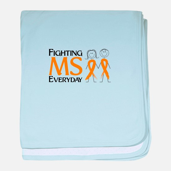 Fighting MS Everyday baby blanket