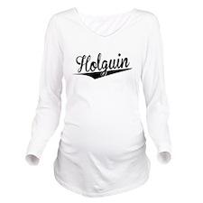 Holguin, Retro, Long Sleeve Maternity T-Shirt