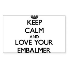 Keep Calm and Love your Embalmer Decal