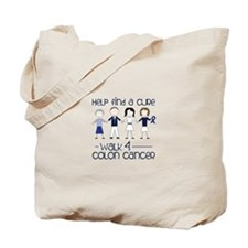 Help Find A Cure Walk 4 Colon Cancer Tote Bag