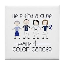 Help Find A Cure Walk 4 Colon Cancer Tile Coaster
