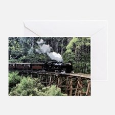 Old Narrow Gauge Steam Train on Tres Greeting Card