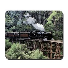 Old Narrow Gauge Steam Train on Trestle  Mousepad