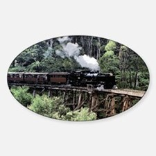 Old Narrow Gauge Steam Train on Tre Decal
