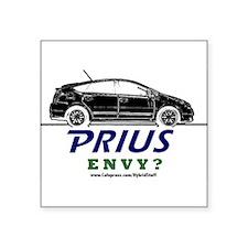 "Cute Toyota prius Square Sticker 3"" x 3"""