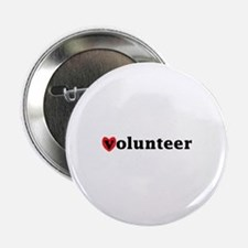 "Heart Volunteer 2.25"" Button"
