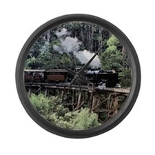 Heritage Narrow Gauge Steam Railw Large Wall Clock
