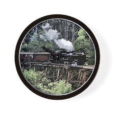 Heritage Narrow Gauge Steam Railway Tre Wall Clock