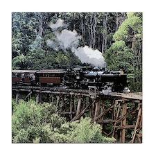 Heritage Narrow Gauge Steam Railway T Tile Coaster
