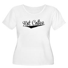 Hot Coffee, Retro, Plus Size T-Shirt