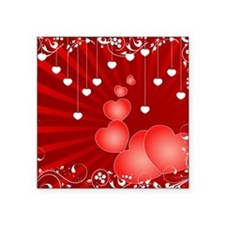 "valentine Square Sticker 3"" x 3"""