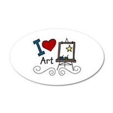 I Love Art Wall Decal
