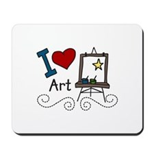 I Love Art Mousepad