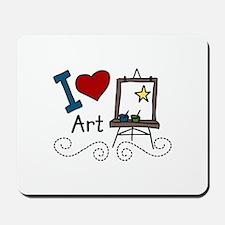 I Love Art Mousepad
