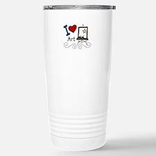 I Love Art Travel Mug
