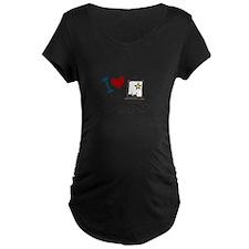 I Love Art Maternity T-Shirt