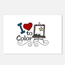 I Love to Color Postcards (Package of 8)
