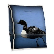 Common Loon Burlap Throw Pillow