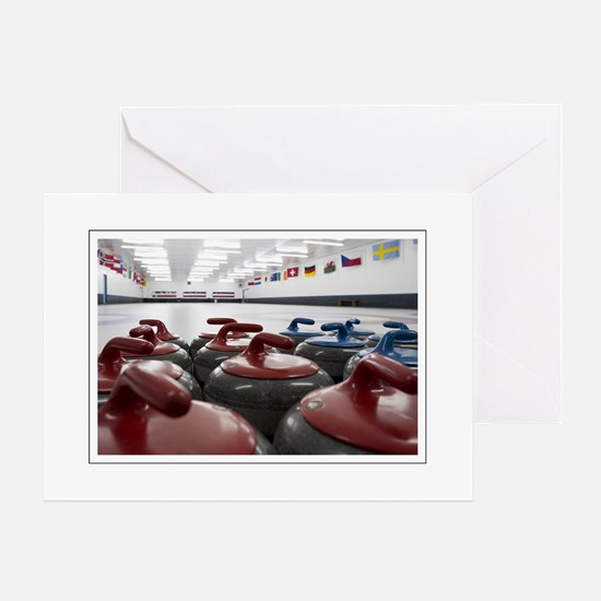 Curling Club Stones Greeting Cards