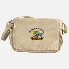 do good in the world Messenger Bag
