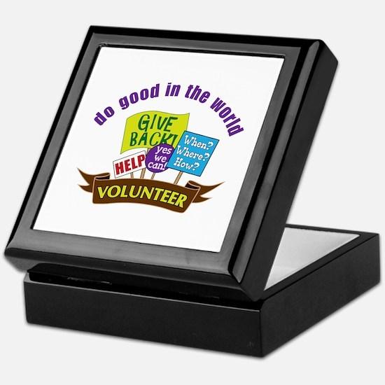 do good in the world Keepsake Box