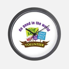 do good in the world Wall Clock
