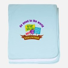 do good in the world baby blanket