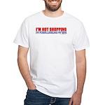I'm Powerleveling My Wife White T-Shirt