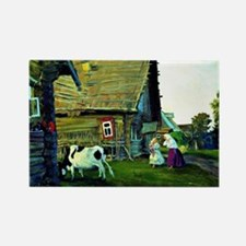 The Hut - Boris Kustodiev Rectangle Magnet
