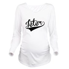 Jeter, Retro, Long Sleeve Maternity T-Shirt