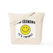 New Grandma It's Twins Tote Bag