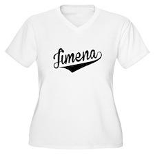 Jimena, Retro, Plus Size T-Shirt