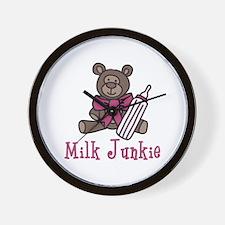 Milk Junkie Wall Clock