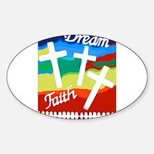 dream faith cross rainbow Decal