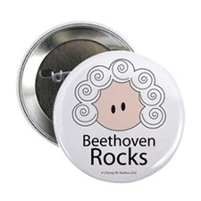 "Beethoven Rocks 2.25"" Button (10 pack)"