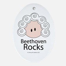 Beethoven Rocks Oval Ornament