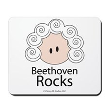 Beethoven Rocks Mousepad