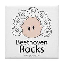 Beethoven Rocks Tile Coaster