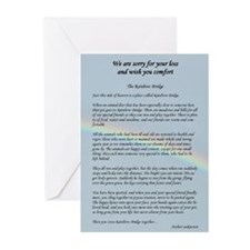Cute Rainbow bridge Greeting Cards (Pk of 20)