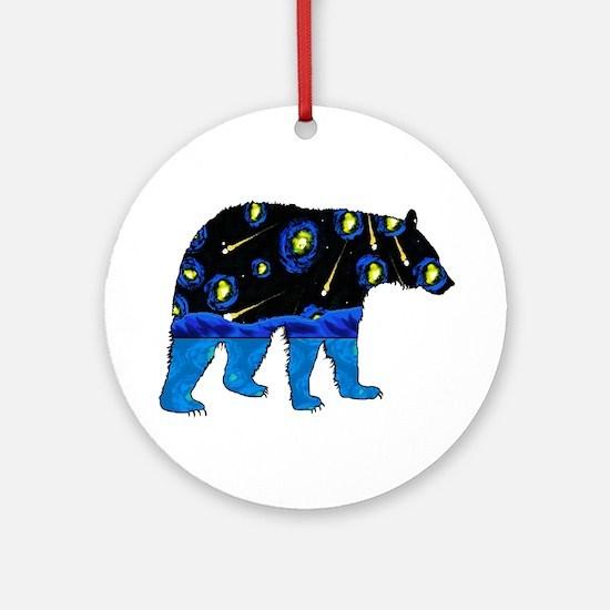 BEAR SKY Round Ornament