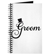 Groom text design with hat Journal
